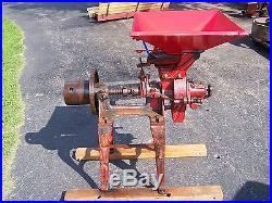 Old ALTHOUSE WHEELER Corn Grinder Burr Grain Mill Hit Miss Gas Engine Windmill