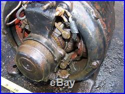 Old Belt Driven 110V AC GENERATOR DYNAMO Hit Miss Gas Engine Steam Motor NICE