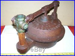 Old CARRUTHERS FITHIAN Oil Field Hit Miss Gas Engine GASOMETER Clutch Steam NICE