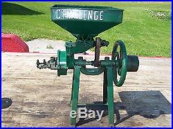 Old CHALLENGE Burr Corn Feed Grinder Grist Mill Hit Miss Gas Engine Steam NICE