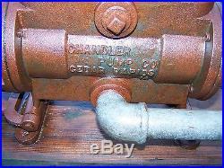 Old CHANDLER Hand Pump Steam Tractor Engine Water Tender Wagon Hit Miss NICE