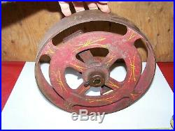 Old Cast Iron Cream Separator Corn Sheller Grinder Clutch Pulley Hit Miss Engine