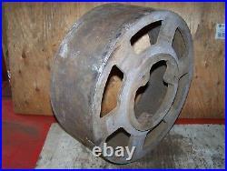 Old FULLER JOHNSON DE N Cast Iron Belt Pulley Hit Miss Gas Engine Steam Oiler