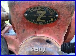 Old Fairbanks Morse Compressor STARTING ENGINE for LARGE Hit Miss Engines