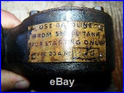 Old HOLLEY 234 Vaporizer FORDSON Tractor Kerosene Carburetor Hit Miss Engine WOW