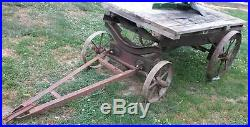Old Homebuilt Hit Miss Gas Engine Truck Cart Cast Iron Wheel