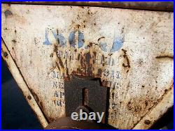 Old LETZ #9 FEED CORN GRINDER BURR MILL Hit Miss Gas Engine Steam Tractor NICE
