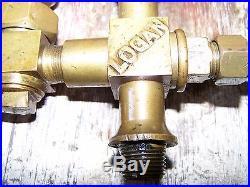 Old LOGAN 1/3 Pint Hit Miss Gas Engine Oiler Steam Tractor Magneto Motor NICE
