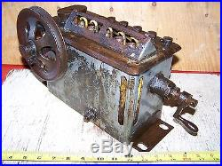 Old MADISON KIPP 5-Feed HAPPY FARMER Steam Prairie Tractor Hit Miss Engine Oiler