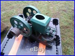 Old Nice Stover Model K KE 1-1/2 HP Hit & Miss Gas Flywheel Engine Nice Shape
