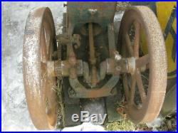 Old Original Antique Hit & Miss Gas Engine Whitte 5 HP For Parts