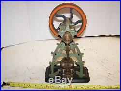 Old Original Victorian Vertical Steam Engine Toy Model Hit Miss Cast Iron Brass