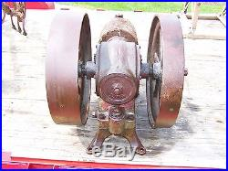 Old RICHMOND STANDARD Air Cooled Compresor Hit Miss Gas Engine Motor Project WOW