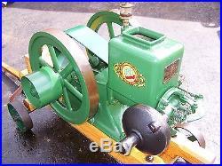 Old ROOT VANDERVOORT BL Hit Miss Gas Engine Motor Factory Cart Steam Oiler NICE