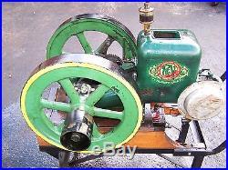 Old ROOT VANDERVOORT Triumph Line Hit Miss Gas Engine WIZARD Magneto Steam Oiler
