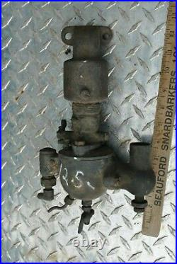 Original Cushman Schebler Brass Carburetor For Throttle Gov. Hit Miss Gas Engine