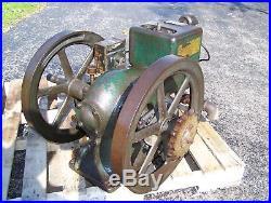 Original INTERNATIONAL HARVESTER 1 1/2hp Type M Hit Miss Gas Engine Steam NICE
