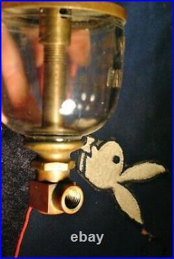 Original Rare Lonergan's Wine Glass Hit Miss Gas Engine Brass Rod Oiler