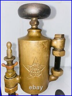 POWELL 1/2 Pint Boson Brass Cylinder OILER Hit Miss Steam Gas Engine Antique