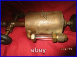 Powell 1 Pint Boson Brass Cylinder Oiler Hit Miss Steam Gas Oilfield Engine