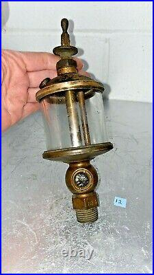 Powell Co. Cincinnati OH SIGNAL NO 4 Brass Flat Glass OILER Hit Miss Gas Engine