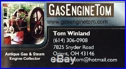 Powell VIKING # 1 1/2 Brass Oiler Hit Miss Gas Engine Antique Steampunk Vintage