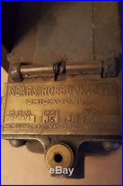 RARE Sears Roebuck AUTO SPARKER withV belt Gov Hit and Miss Old Gas Engine Magneto