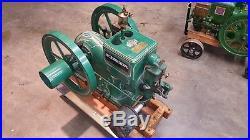 RUNS McCormick Deering model M Hit Miss Engine 1 1/2 Hp throttle governed engine