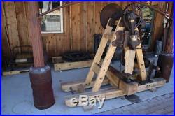 Rare Antique Hit & Miss Steam Engine Show Tom Huston Mechanical Wood Splitter