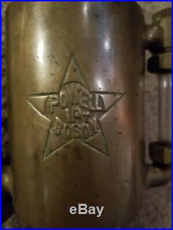 Rare Brass 1 Pint Powell Boson Hit & Miss Engine Oiler