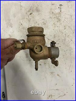 Rare Essex Dual Fuel Antique Hit And Miss Gas Engine Brass Carburetor