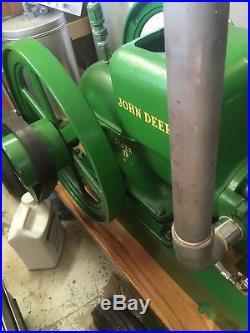 Rebuilt 1938 John Deere Hit Miss 1 1/2 hp Engine