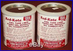 Red Kote 2 Qts Coat Gas Oil Diesel Fuel Tank Sealer Liner Patch Hit Miss Engine
