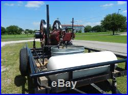 Reid 15hp engine and trailer hit and miss engine