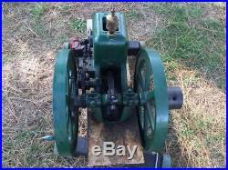 Root & Vandervoort 1 HP Hit and Miss Gas Flywheel Engine Nice Rare