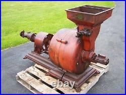 SPROUT WALDRON 18 Stone Grist Mill Grain Grinder Hit Miss Gas Engine Steam WOW