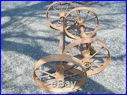 STEEL WHEELS for Hit Miss Gas Engine Truck Cart Magneto Steam Oiler Pump NICE