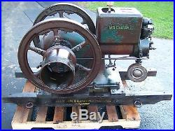 SUPER Original IHC 6hp Type M Hit Miss Gas Engine Magneto Pulley Skids Steam WOW
