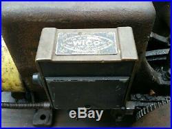 Sattley 1 1/2 hp Hit Miss Gas Engine EK magneto on cart Montgomery Wards