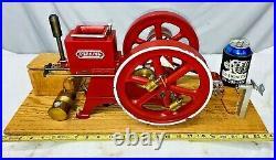 Scale Model Perkins Wind Mill Co. Hit Miss Gas Oil Engine Flywheel Generator