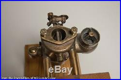 Schebler Brass Carburetor Carb on stand Hit Miss Gas Engine Tractor Auto Pat 07