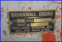 Small 1hp Brownwall Kerosene Fuel Hit Miss Gas Engine