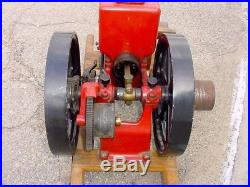 Small 1hp IHC Famous Hit Miss Gas Engine With Butter Churn Pulley