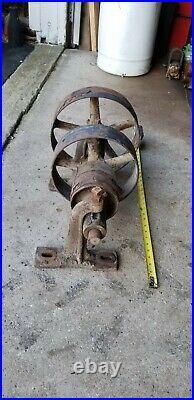 Small 21 3-Pulley LINESHAFT JACKSHAFT Setup Hit Miss Gas Engine Steam Tractor