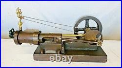 Steam Engine with Brass Vertical Governor Hit Miss Engine Antique Model Flywheel