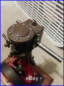 Stuart 7A live running model steam engine works vintage power hit miss