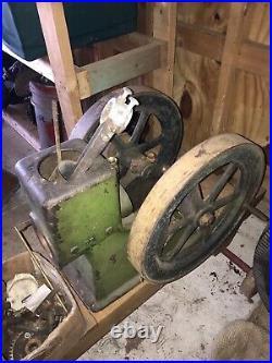 Termaat Monahan 1 Hp Hit Miss Engine Project On Cart Original Paint Antique