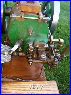 VERY RARE 1/4 Scale Vintage Domestic Sideshaft Stovepipe Hit And Miss Engine
