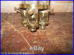 VINTAGERAREHALL MFG. CO. NY BRASS STEAM HIT MISS ENGINE OILER 3 OUTLETS