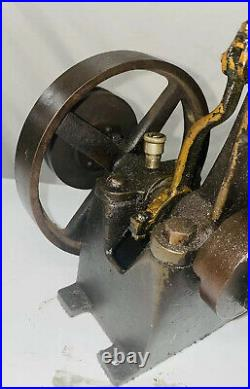 Vertical Steam Engine with Pulley Hit Miss Engine Antique Model Flywheel